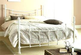 White Metal King Bed Frame King Iron Bed Frames Cast Iron Bed Frame ...