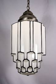 art deco lamp. Amazing Antique Art Deco Pendant Light With Skyscraper Globe, C. 1930\u0027s Lamp