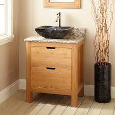 Bamboo Bathroom Sink 24 Narrow Depth Torrance Bamboo Vessel Sink Console Vanity Bathroom