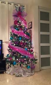 Light Pink And Blue Christmas Decorations Pink Blue Christmas Tree Girly Pink Christmas Christmas