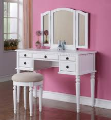 furniture for girl room. Recommended Vintage Bedroom Vanities : Outstanding Image Of Girl Decoration Using Round White Wood Backless Furniture For Room