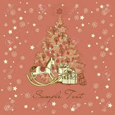 free beautiful christmas cards vintage christmas card beautiful christmas tree illustration