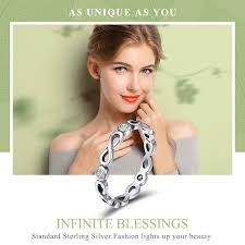 BAMOER Authentic 100% <b>925 Sterling Silver</b> Infinity Blessings ...