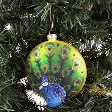 Glas Weihnachtsbaumkugel Pfau ø10cm Weihnachtsbaum Anhänger Christbaumschmuck