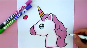 How To Draw Unicorn Emoji Step By Step Cute And Easy Youtube
