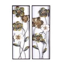 luxen home metal flowers wall decor 2