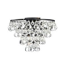 tranquil crystal and bubble flush mount chandelier jessica basket 3 light antique bronze