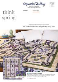 Keepsake Quilting - Almost Spring 2017 & Contents of this Issue Adamdwight.com
