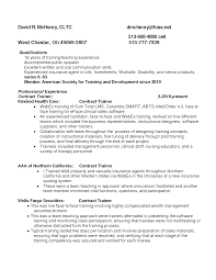 Remarkable Resume Format For Freelance Trainers In Insurance Agent