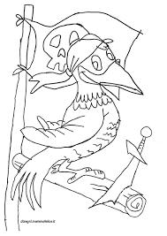 Disegno Da Colorare Pirata Pappagallo Disegni Mammafelice