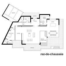 plan de maison moderne toit plat gratuit plans maisons d architecte dessins villa par