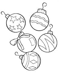 Small Picture Coloring Pages Christmas Ornament Outline Printable Magiel