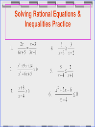 28 solving rational equations
