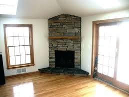 gas corner fireplace small direct vent unit ventless