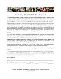 Wedding Photography Contract Form Report Wedding Wedding Photographer Contract Template Photography