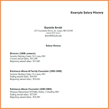 Salary History In Resumes Salary History In Resume Breathelight Co