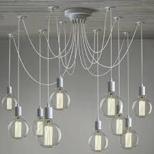 10 light chandelier industrial multi light pendant in white finish light swag chandelier for living room 10 light chandelier