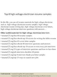Electrician Resume Sample top10000highvoltageelectricianresumesamples1005053001000051000022lva100app61000092thumbnail100jpgcb=10010032976356 50