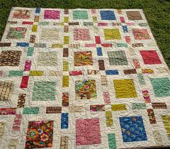 Modern - patchwork quilt measures 63 inches square ... & ... Modern - patchwork quilt measures 63 inches square Adamdwight.com