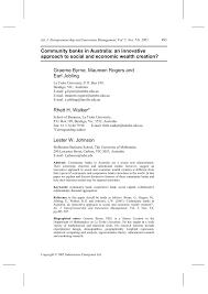 Johnson Banks Design Ltd Pdf Community Banks In Australia An Innovative Approach To