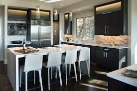 image modern kitchen lighting. Kitchen With Glass Tube Pendant Lighting Image Modern