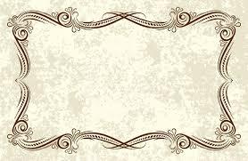 Printable Vintage Background Stock Vector Certificate Border