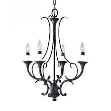 country antique iron and candles chandelier 10141