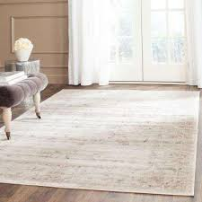 vintage light grey ivory 10 ft x 14 ft area rug