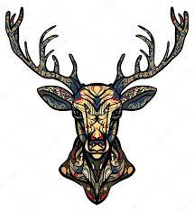 олень эскиз тату этнические тотем оленя тату олень с орнаментом