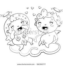 Small Picture Poodle Coloring Page Stock Vector 191105309 Shutterstock