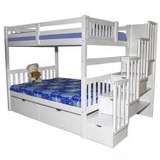 twin bunk beds for adults.  For Bellagio Stairway Bunk Bed White Inside Twin Beds For Adults F