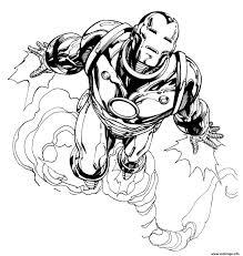 Coloriage Iron Man 130 Dessin