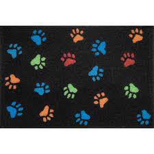 jellybean paw prints outdoor door mat