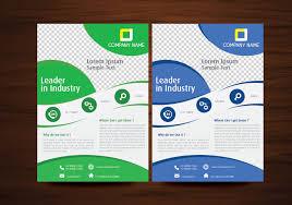 templates vector art s blue and green vector brochure flyer design template