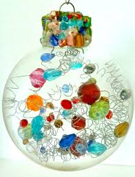 Decorating Christmas Ornaments Balls 100 Ways to Fill Clear Glass Ornaments Homemade Christmas 65