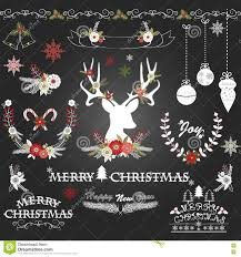 christmas eve party invitation chalkboard stock vector image chalkboard christmas flowers deer rustic christmas wreath christmas or nts stock image