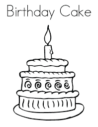 Birthday Cake Template Coloring Page With No Candles Number 1