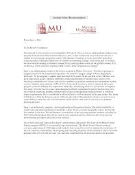 Recommendation Letter For Grad School Graduate School Academic Recommendation Letter