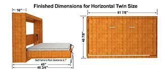 horizontal twin murphy bed. Amazon.com: Twin Size Easy DIY Murphy Wall Bed Hardware Kit Horizontal  Mount: Kitchen \u0026 Dining Horizontal Twin Murphy Bed