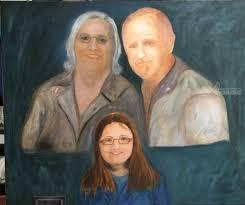 gable family portrait paintings realism portrait canvas oil by mike