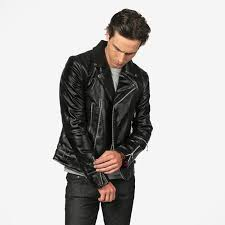 long vegan defector ii black artificial leather jacket