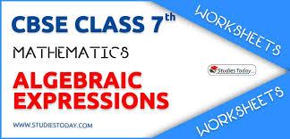 worksheets for class 7 algebraic