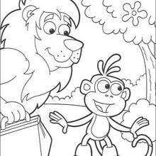 Small Picture Boots the monkey and dora the explorer coloring pages Hellokidscom