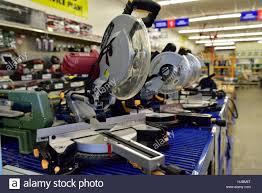harbor freight miter saw. shop display of miter saws inside harbor freight tools, prescott, arizona, usa saw