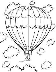 Small Picture Printable hot air balloon coloring page Free PDF download at http