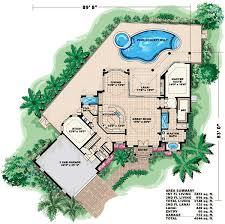 Spacious Spanish Style Home Plan   GW   st Floor Master    Floor Plan