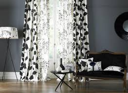 Modren Black And White Curtains A Mix Of To Design