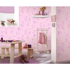 Wall Decor For Girls Girls Chic Wallpaper Kids Bedroom Feature Wall Decor Various