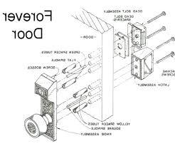Exterior Door Parts Diagram garage door diagrams door frame parts