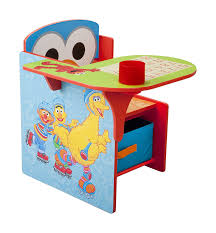 com delta children chair desk with storage bin sesame street baby